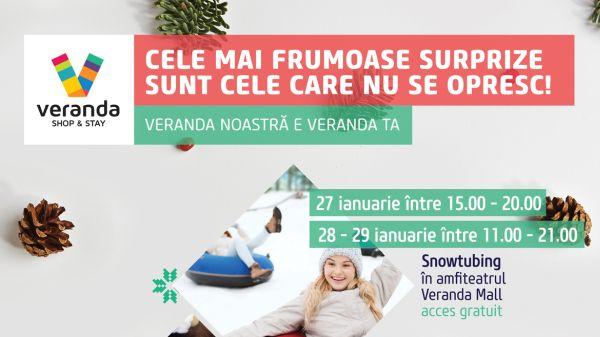 In premiera pentru un centru comercial din Bucuresti, Veranda Mall amenajeaza o pista de snow tubing