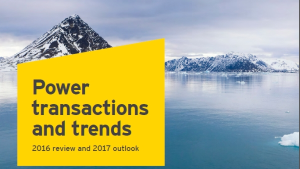 The global value of transactions in power and utilities dropped in 2016