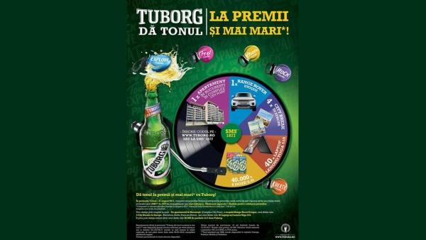 """Tuborg a lansat campania nationala """"Tuborg da tonul la premii si mai mari"""""""