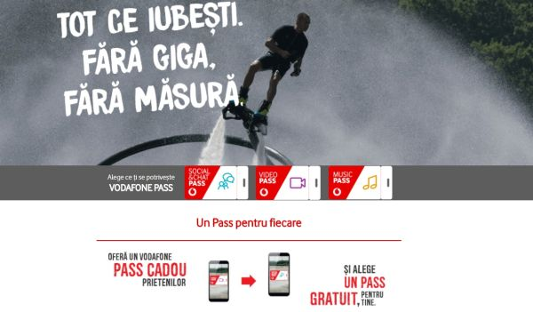 Vodafone Romania subscribers have access to favorite social media, video and music applications without consuming data traffic from subscription
