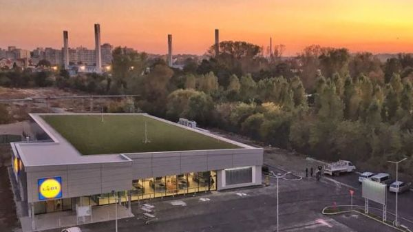 LIDL  opens the first store with green roof in Constanta