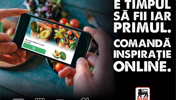 Mega Image launches its own supermarket online From now on, inspiration comes straight home!