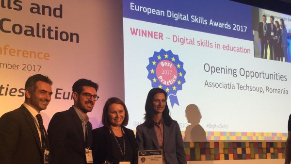 Opening Opportunities, castigator in competitia European Digital Skills Awards 2017