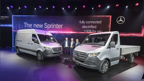 World premiere of the new mercedes benz sprinter now at for The latest mercedes benz