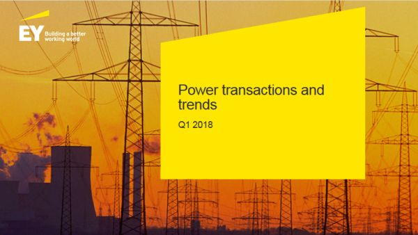 The value of the transactions in energy and utilities reaches a record high in Q1 2018, following mega transactions
