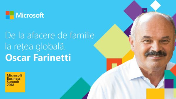 Oscar Farinetti, founder of Eataly and Gunter Ollmann, CSO Microsoft Cloud, speakers at Microsoft Business Summit 2018