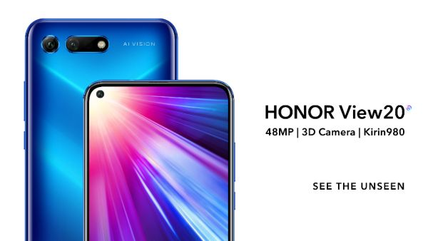 HONOR unveils at CES 2019 the HONOR VIEW20 with the first 48MP camera with AI Ultra Clarity and 3D in the world