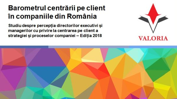 Valoria launches a new edition of the Barometer of customer centricity in Romania""