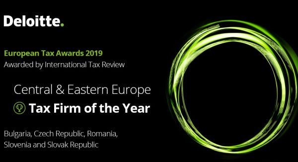 Deloitte, recognized as the Tax Firm of the Year in CEE Region at the European Tax Awards 2019