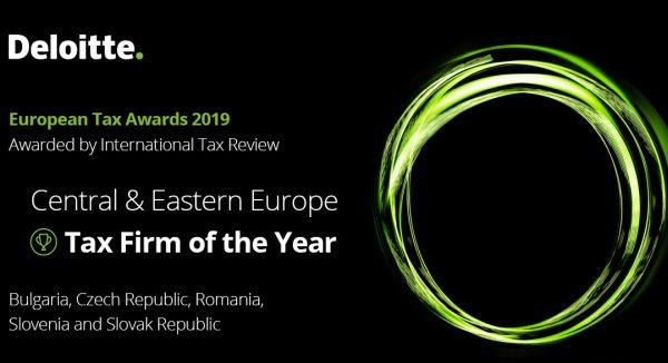 Deloitte, desemnata Firma de Consultanta Fiscala a Anului in Europa Centrala si de Est in cadrul Europen Tax Awards 2019