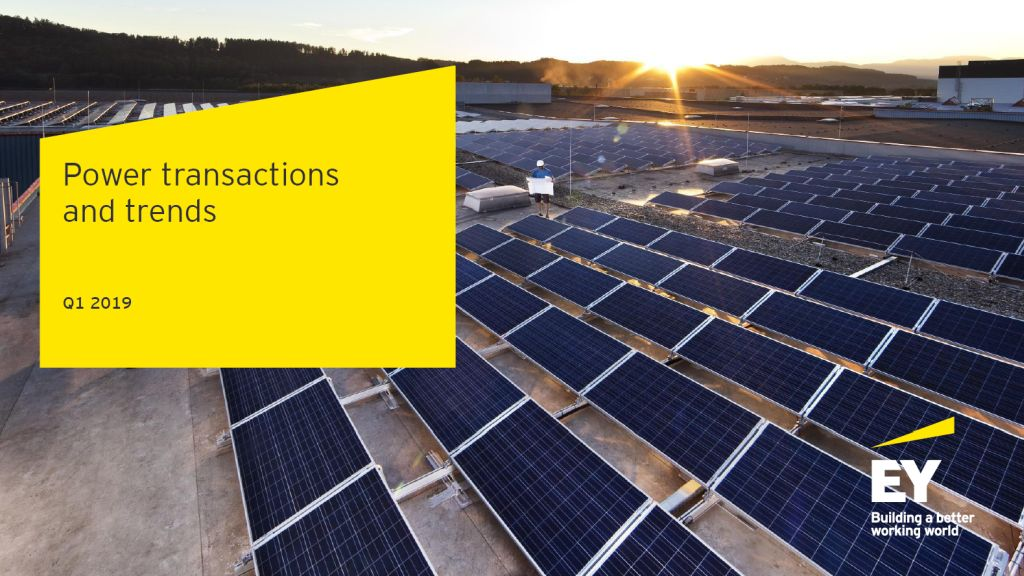 EY Report: Green energy dominates the energy and utilities transactions
