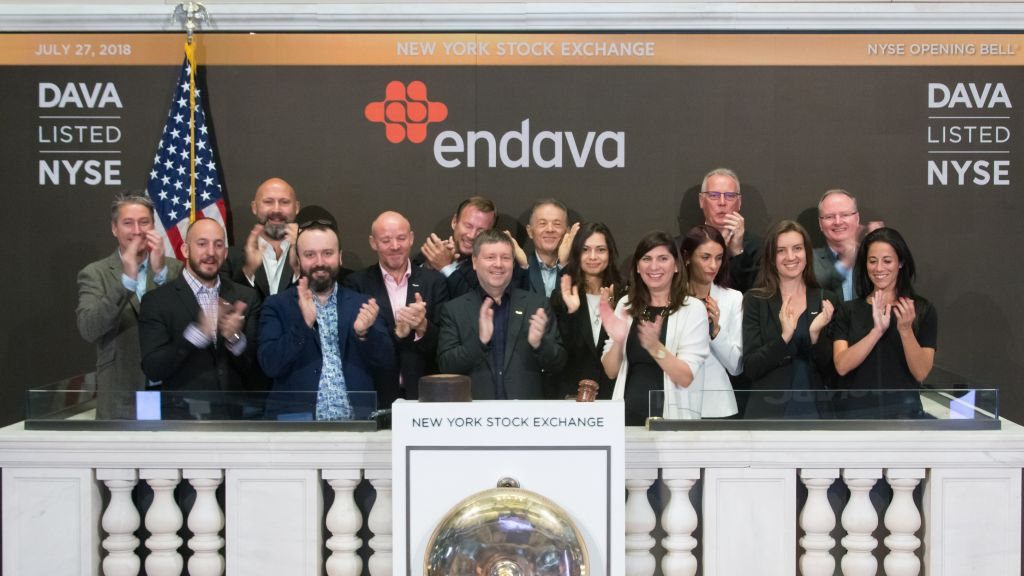 Endava 1 year after its listing at the New York Stock Exchange: 2.07 billion dollars capitalisation and an increase of 91.5% of the share price