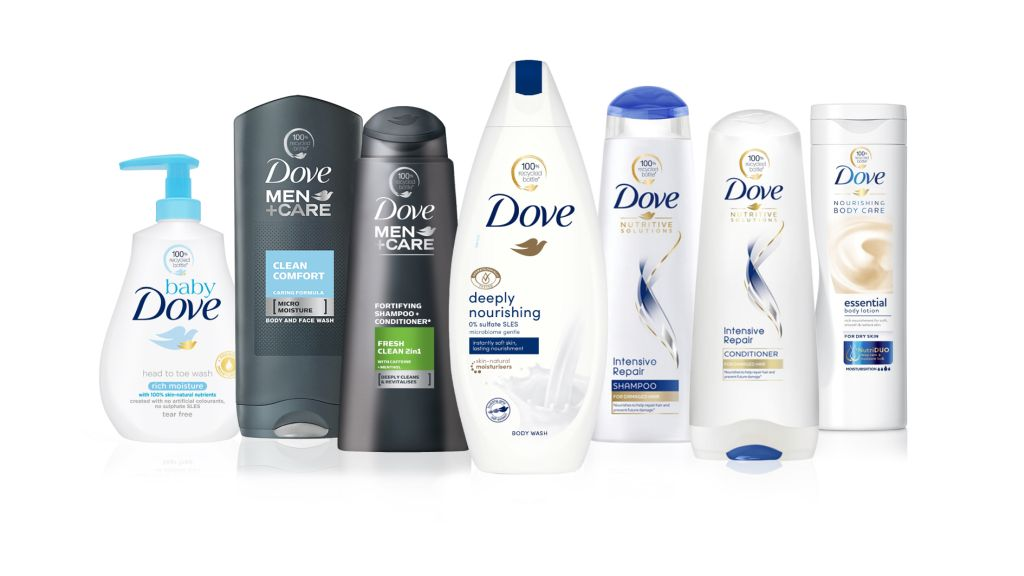 Dove will use 100% recycled plastic bottles and will completely remove the plastic from the cream-soap packaging in several markets, including Romania