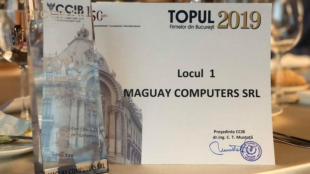 Maguay company was awarded by the Chamber of Commerce and Industry of Bucharest for performance in business