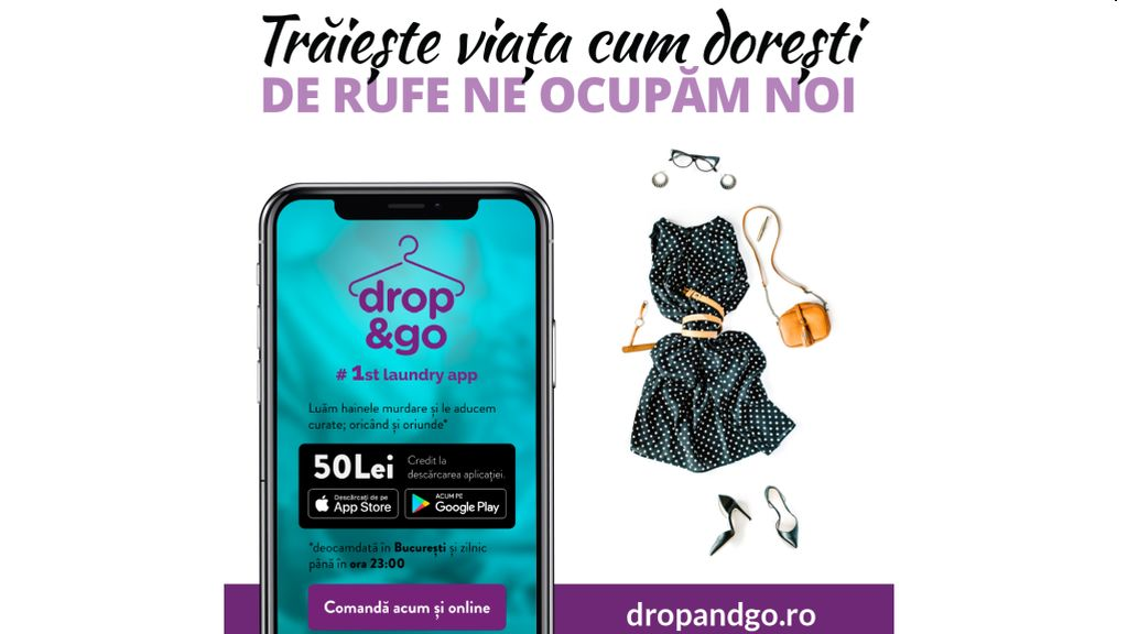 Drop & go launched, the first Romanian laundry application to get rid of laundry care