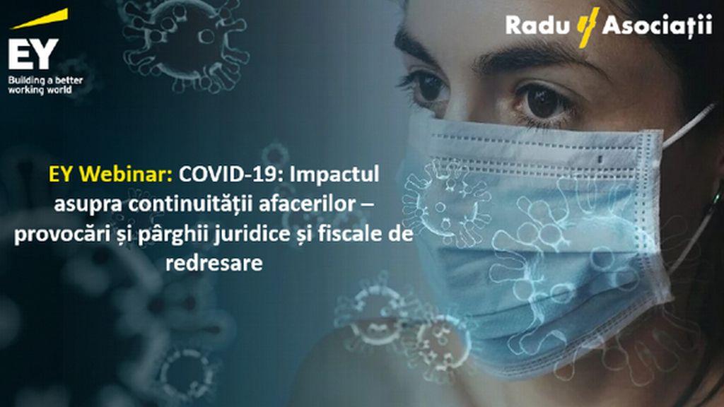 COVID-19: Impactul asupra continuitatii afacerilor – provocari si parghii juridice si fiscale de redresare