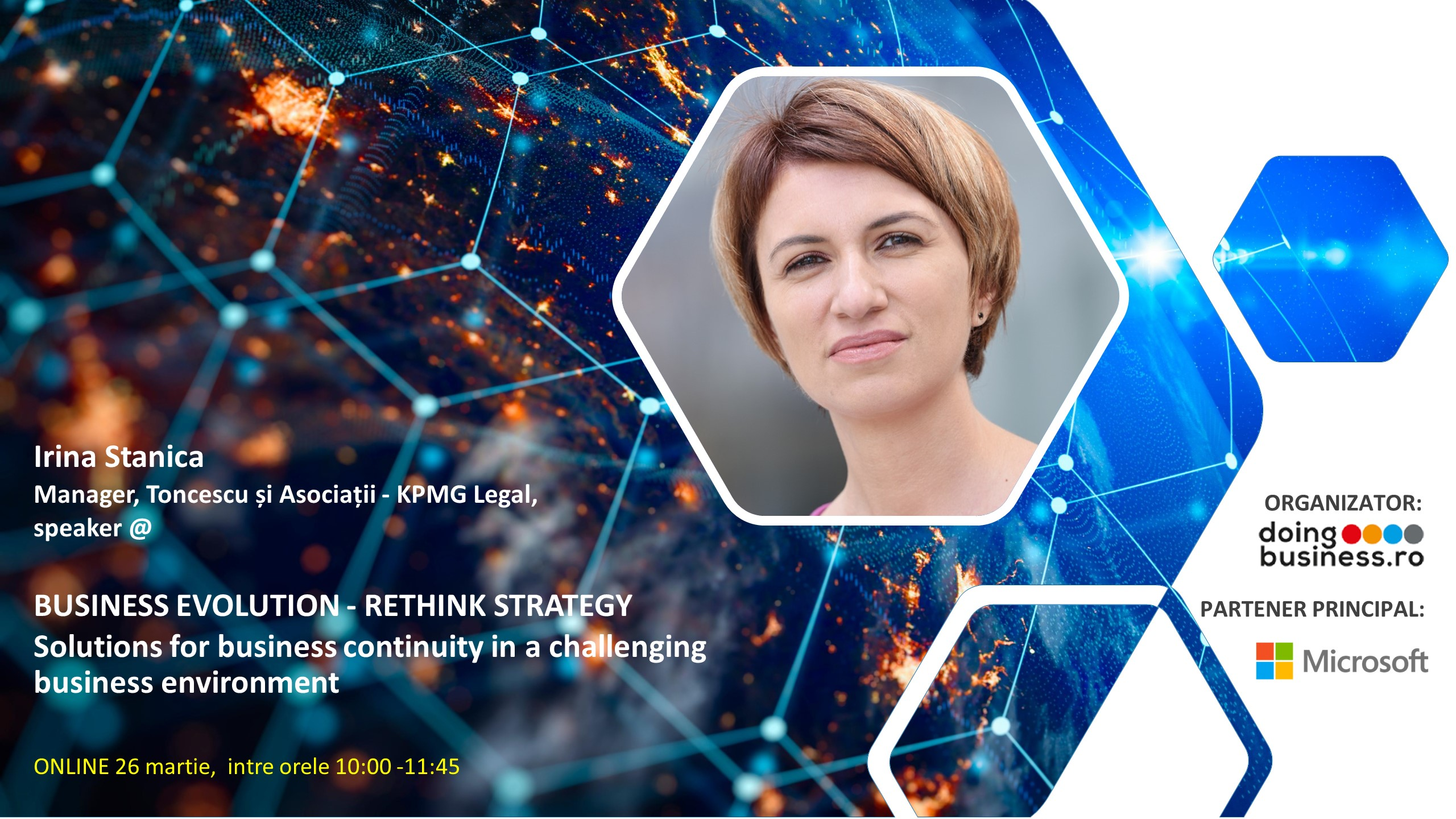 IRINA STANICA, la BUSINESS EVOLUTION, Rethink Strategy