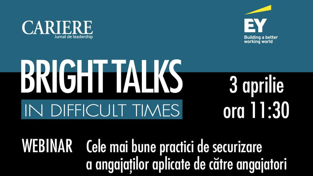 Bright Talks in Difficult Times - first edition, Friday, April 3, 11: 30-12: 30