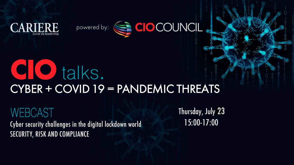 WEBCAST: CIO TALKS - Powered by CIO Council. On Thursday, July 23, between 15.00 - 17.00