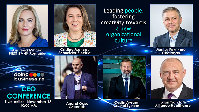 CEO Conference - Leading people, fostering creativity towards a new organizational culture