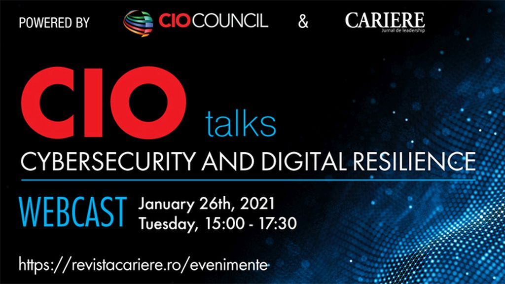 "Webcast: CIO TALKS - Powered by CIO Council  ""Cybsersecurity and Digital Resilience"""