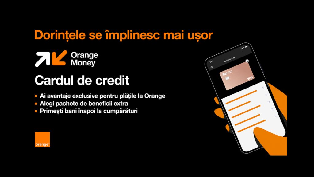 Orange Money lanseaza cardul de credit care le permite clientilor sa-si aleaga beneficiile