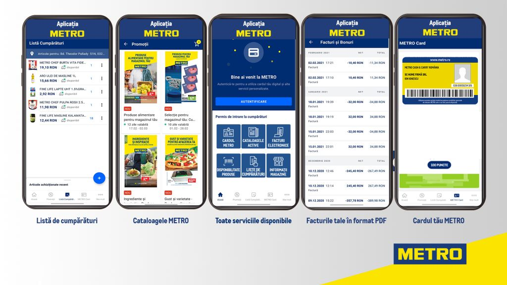METRO isi lanseaza oficial aplicatia digitala in Romania