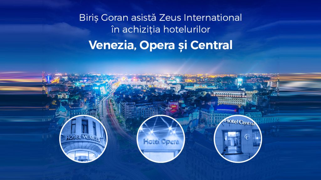 Biris Goran advises Zeus International in the acquisition of three hotels in Bucharest