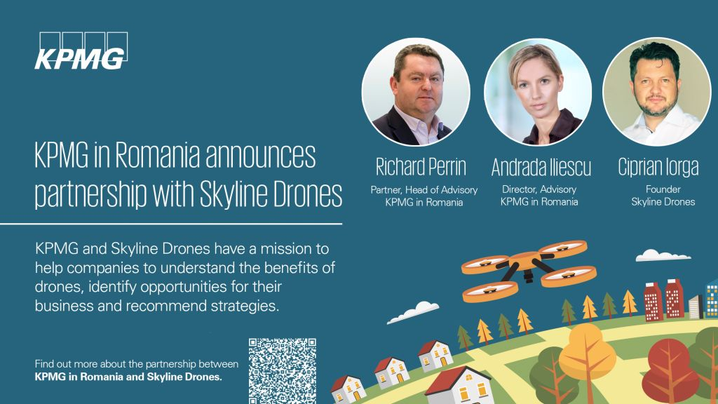 KPMG in Romania announces partnership with Skyline Drones