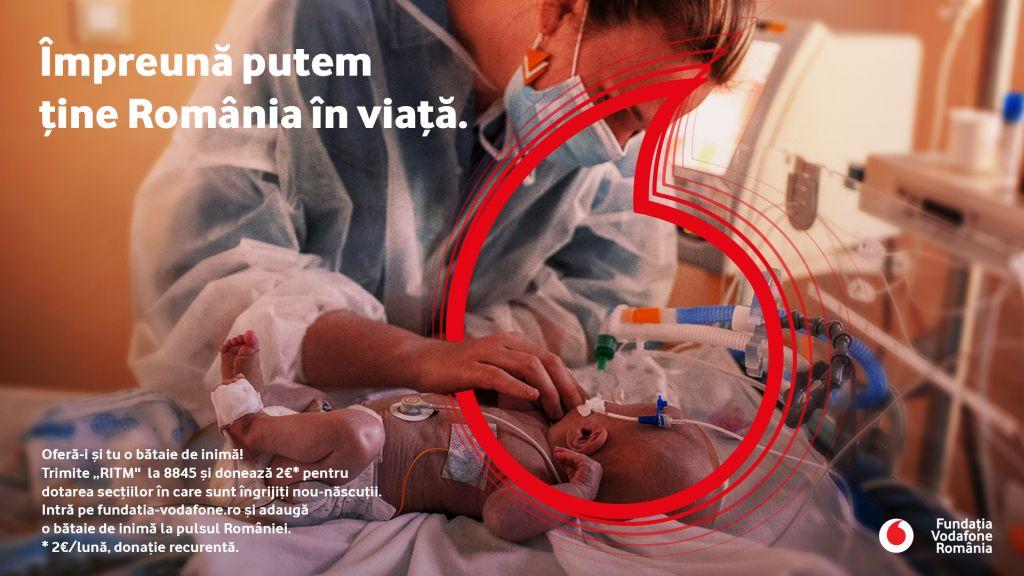 Fundatia Vodafone Romania finanteaza cu 5 milioane de lei renovarea si dotarea sectiilor de nou-nascuti