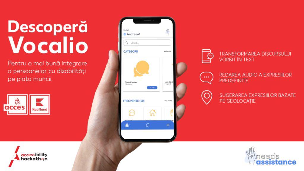 Kaufland anunta lansarea Vocalio, aplicatia castigatoare a competitiei Accessibility Hackathon