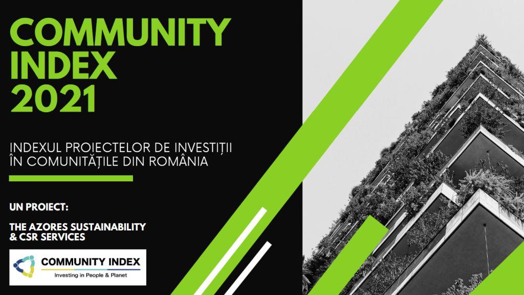 Rezultatele Community Index 2021, indexul proiectelor de investitii in comunitati din Romania, editia a treia
