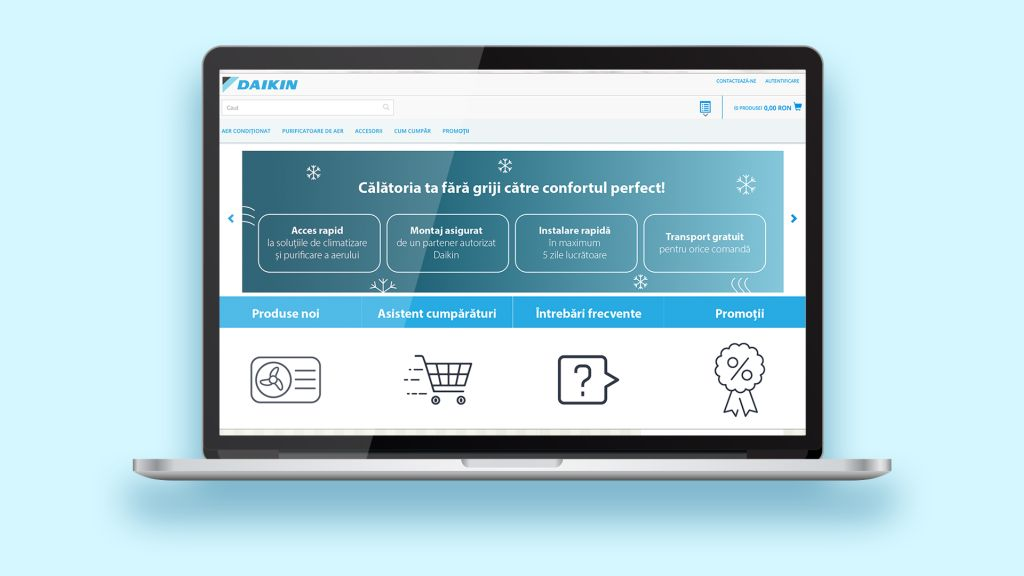 Daikin Romania launches its own online store and becomes the first air conditioning system manufacturer selling directly to consumers