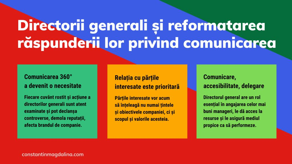 Directorii generali si reformatarea raspunderii lor privind comunicarea