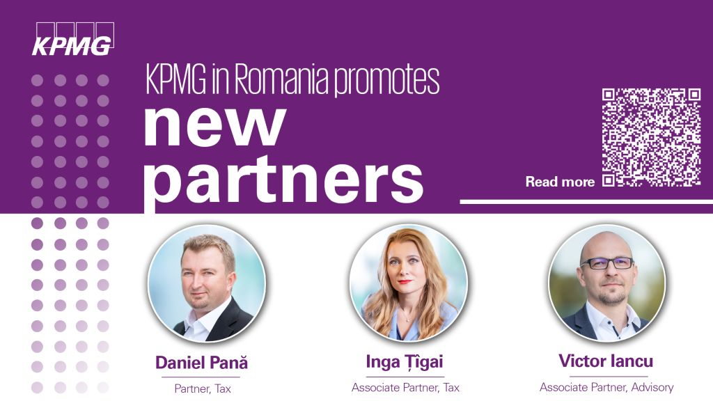 New appointments at management level at KPMG in Romania