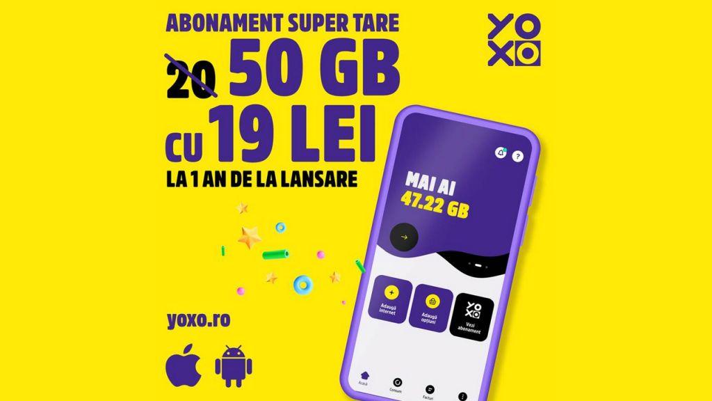 YOXO aniverseaza 1 an cu noi abonamente si super beneficii