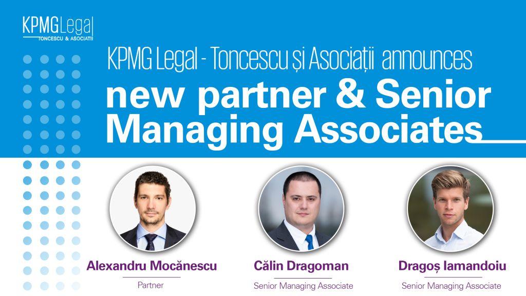 KPMG Legal - Toncescu si Asociatii anunta numirea unui nou partener si promovari interne